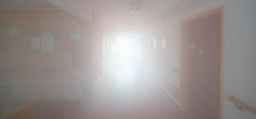 Porraskäytävässä savua