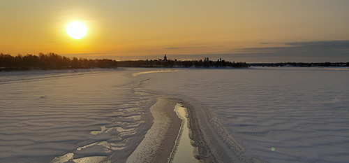 Talvi saapui Tornioonkin